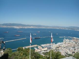 Gibraltar visto desde arriba